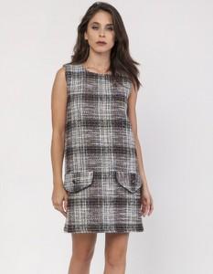 Sukienka Milena Płatek mini bez rękawów z tkaniny