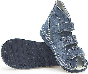 Granatowe buty dziecięce letnie DANIELKI dla chłopców na rzepy