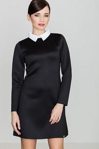 e68ea95bac czarne sukienki z białym kołnierzykiem - stylowo i modnie z Allani