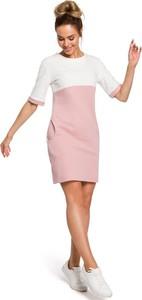 Różowa sukienka Merg w stylu casual