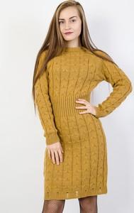 Żółta sukienka Olika w stylu casual