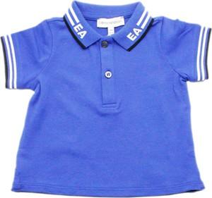 Niebieska koszulka dziecięca Emporio Armani z krótkim rękawem dla chłopców