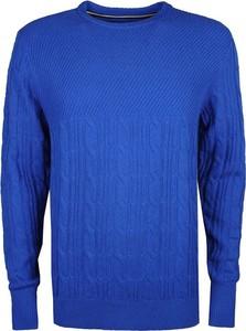 Niebieski sweter Tommy Hilfiger w stylu casual z dzianiny