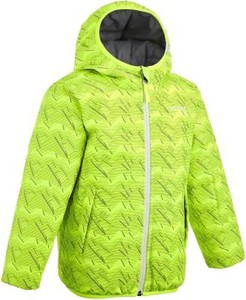 Zielona kurtka dziecięca WED'ZE z tkaniny