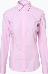 Różowa koszula brookshire z bawełny z długim rękawem