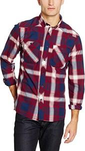 Fioletowa koszula amazon.de z długim rękawem