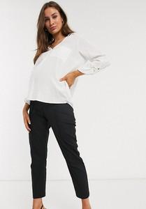 ASOS DESIGN Maternity – Lniane spodnie cygaretki-Czarny