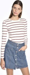 T-shirt Gate z bawełny w stylu casual z okrągłym dekoltem