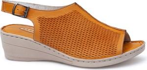 Pomarańczowe sandały Lanqier