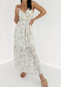 Sukienka Latika z bawełny z dekoltem w kształcie litery v maxi