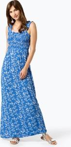 Niebieska sukienka NA-KD w stylu casual z dekoltem w karo