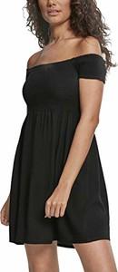 Czarna sukienka amazon.de w stylu casual hiszpanka dla puszystych