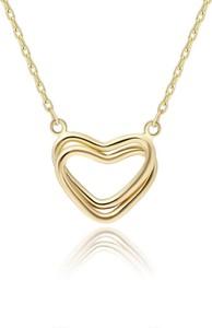 Irbis.style złoty naszyjnik serce