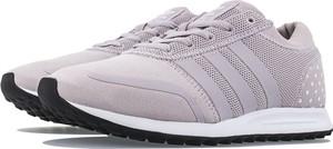 Różowe buty sportowe Adidas z zamszu sznurowane
