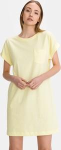 Żółta sukienka Gap z krótkim rękawem