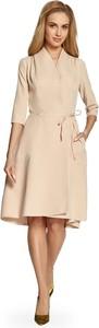 Sukienka Stylove midi rozkloszowana z długim rękawem