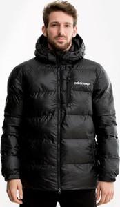Czarna kurtka Adidas Originals w stylu casual z tkaniny