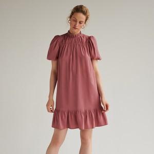Różowa sukienka Reserved z krótkim rękawem oversize mini