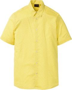 Żółta koszula bonprix bpc selection z krótkim rękawem
