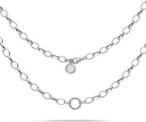 GIORRE SREBRNY NASZYJNIK CHOKER KARMA 925 : Kolor pokrycia srebra - Pokrycie Jasnym Rodem