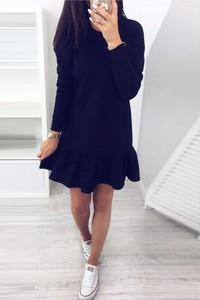 Niebieska sukienka Ivet.pl mini w stylu casual