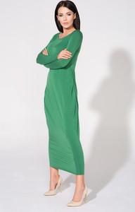 Sukienka Tessita dopasowana z długim rękawem
