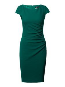 Zielona sukienka Paradi z krótkim rękawem midi