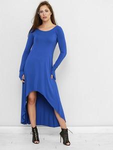 Sukienka Freeshion z okrągłym dekoltem w stylu casual maxi