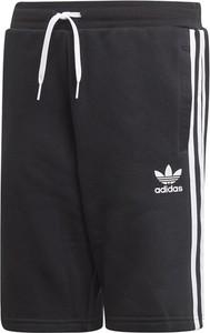 Czarne spodenki dziecięce Adidas z bawełny