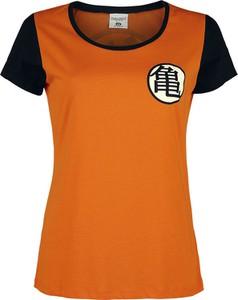 Pomarańczowy t-shirt Emp z bawełny