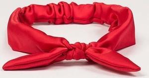 Bohomoss Opaska do włosów z kokardką czerwony