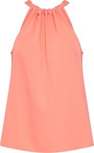 Pomarańczowa bluzka Vero Moda w stylu casual