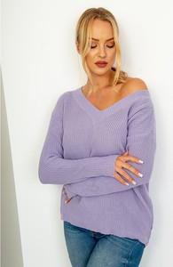 Fioletowy sweter ZOiO.pl w stylu casual