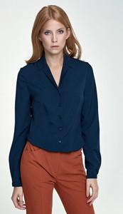 Niebieska bluzka Merg z długim rękawem