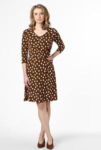 Brązowa sukienka More & More w stylu casual z dekoltem w kształcie litery v mini