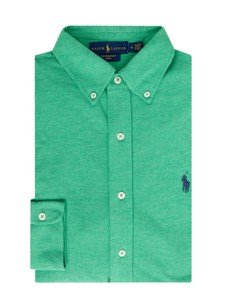 Zielona koszula POLO RALPH LAUREN z bawełny z kołnierzykiem button down