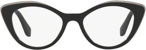 Czarne okulary damskie Miu Miu
