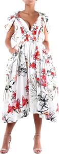 Sukienka Alexander McQueen z krótkim rękawem