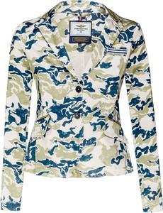 Marynarka Aeronautica Militare na guziki z tkaniny w militarnym stylu