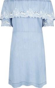 Sukienka Pepe Jeans mini z krótkim rękawem