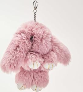 House - Brelok z pluszowym królikiem - Różowy