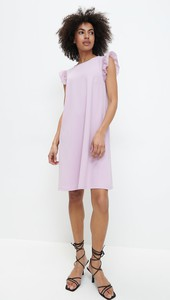Fioletowa sukienka Mohito bez rękawów mini