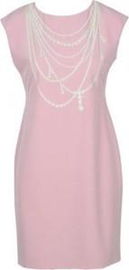 Sukienka Moschino z okrągłym dekoltem mini ołówkowa