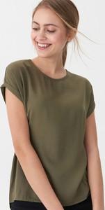 Zielona bluzka House z krótkim rękawem