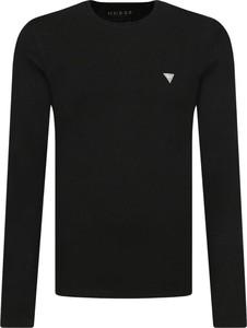 Czarna koszulka z długim rękawem Guess Jeans z długim rękawem