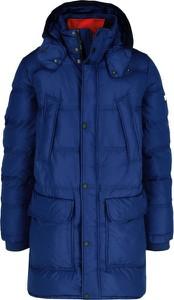 Niebieska kurtka Tommy Hilfiger długa