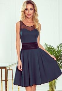 Sukienka NUMOCO z okrągłym dekoltem z tiulu