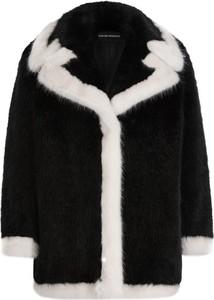 Czarny płaszcz Emporio Armani w stylu casual