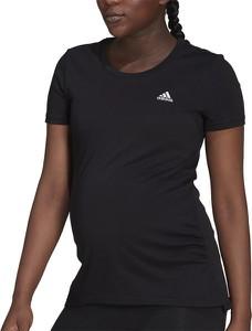 Czarna bluzka Adidas z krótkim rękawem z bawełny