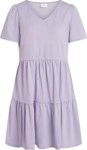Sukienka Vila mini w stylu casual z dekoltem w kształcie litery v